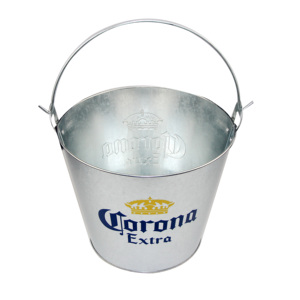 Printed Galvanized Tinplate 8L Capaicty Embossed LOGO Ice Bucket