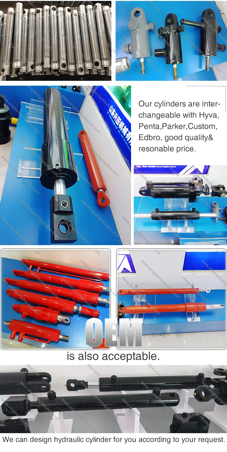 Mini Telescopic Double Acting Welded Clevis Hydraulic Cylinder For Harvester Or Other Agricultural/Farm Equipment