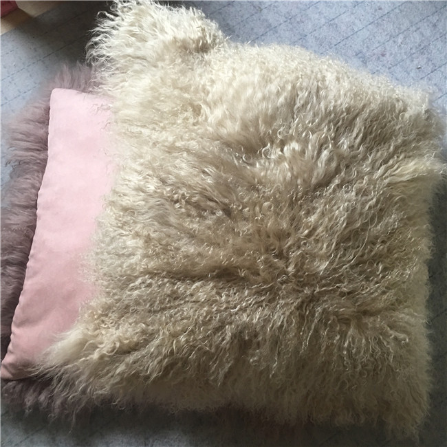 Dye colors real fur pillow cover