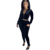 FNN8520 fall winter casual ladies two piece set solid color Korean velvet long sleeved hoodie pencil pants women 2 piece set