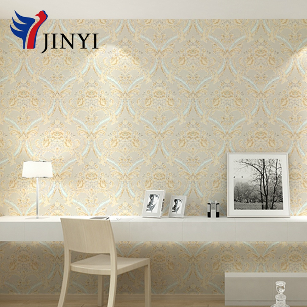 Light Brown Flower Water-proof Home Decorative Self-adhesive PVC Wallpaper Peel and Stick