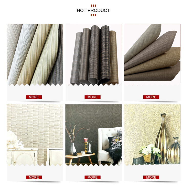 Tahan Api Wallpaper % 2 Fwall + Lapisan Warna Polos Kain Vinil Yang Didukung Dinding Kertas Gulungan untuk Rumah Hotel Kafe kantor
