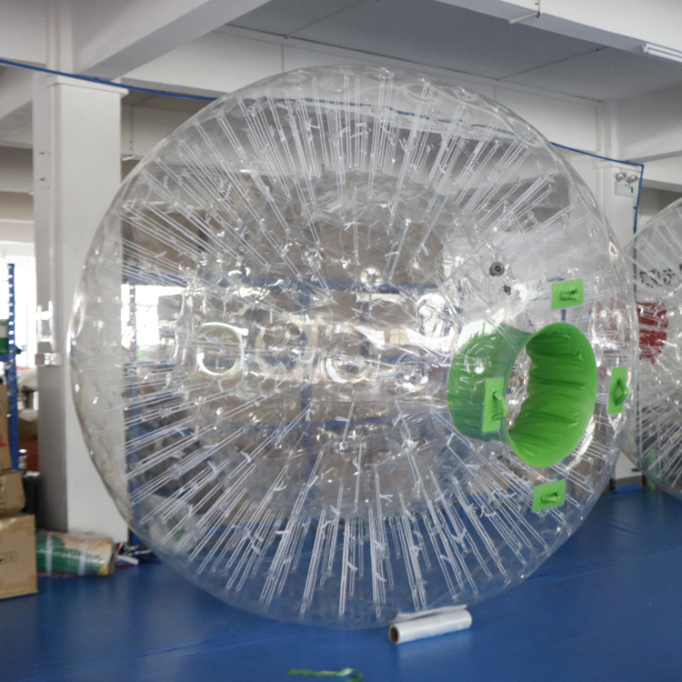 2019 high quality 0.7mm TPU colored zorb inflatable knocer bumper soccer human body bubble ball for sale