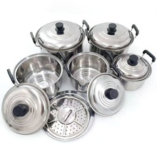 <span class=keywords><strong>Non</strong></span> <span class=keywords><strong>Stick</strong></span> Cooking Pot 5 Pcs Stainless Steel Stock Pot Aksesoris Dapur <span class=keywords><strong>Peralatan</strong></span> <span class=keywords><strong>Masak</strong></span> <span class=keywords><strong>Set</strong></span> dengan Tutup