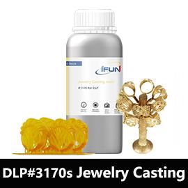 Ifun深緑色 100% バーンアウトジュエリーcad樹脂時 405nm dlp 3D樹脂プリンタ純粋なシルバー & ゴールドブレスレット