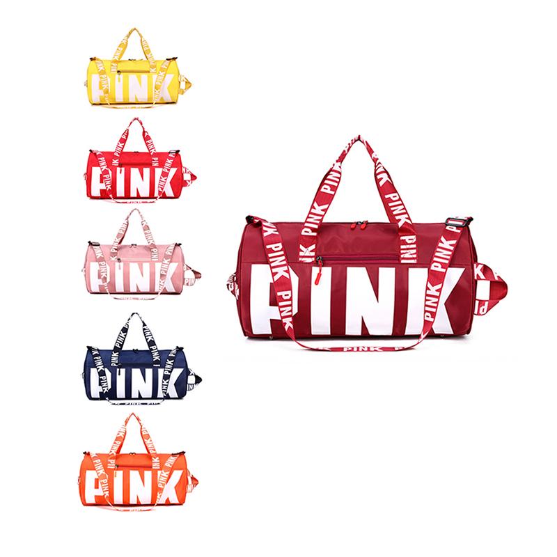 Custom logo travel duffel pink bag hight quality sport gym bags 2020