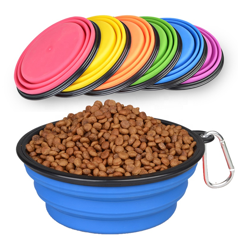 Custom Foldable Silicone Pet Water <strong>Bowl</strong> Collapsible Travel Environmental Material Traveling Silica Portable Folding <strong>Dog</strong> <strong>Bowls</strong>