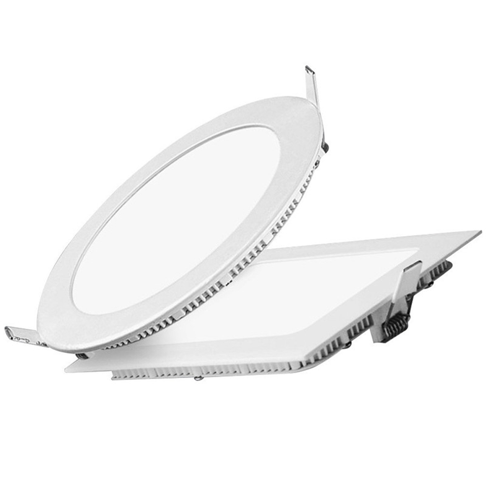 6w square round recessed battery powered led emergency down light panel light
