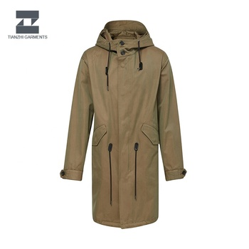 Quality assurance leading production waterproof trench men length coat