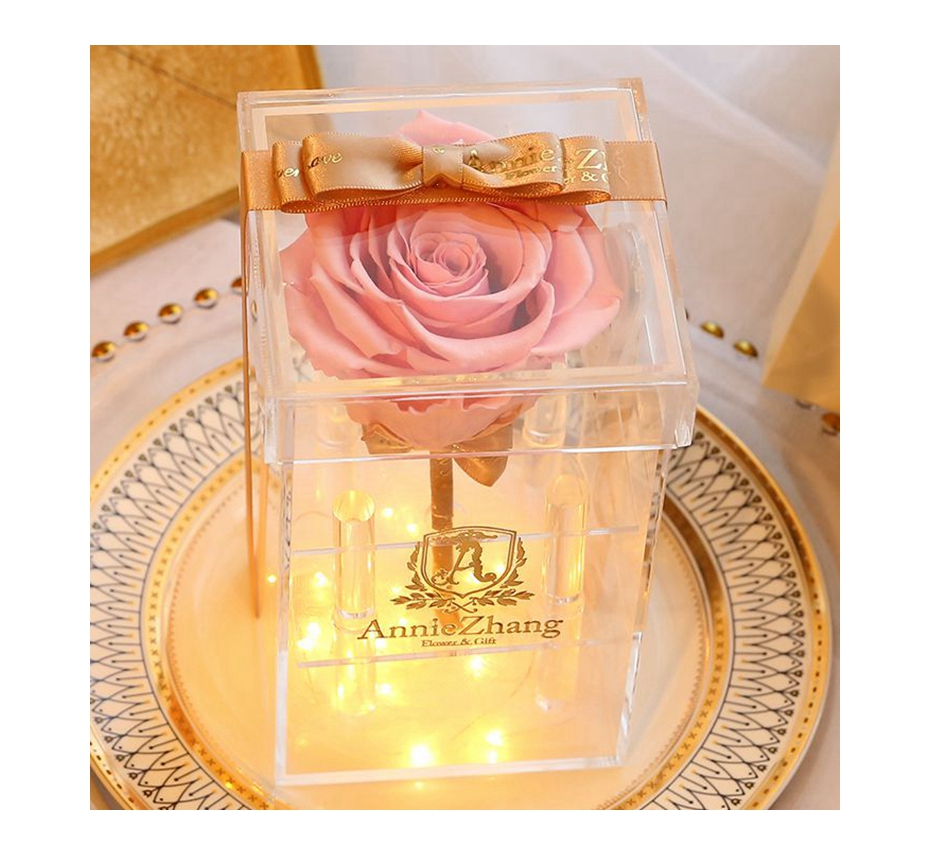 High Quality immortal <strong>flower</strong> forever eternal rose with advertisement gift