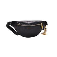 Женская поясная сумка из искусственной кожи, однотонная Сумка-Кроссбоди с рисунком аллигатора, модная сумка-мессенджер(Китай)