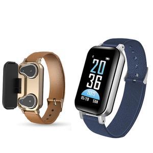 T89 smart watch earphone and bracelet dual-use heart rate fitness health smart watch
