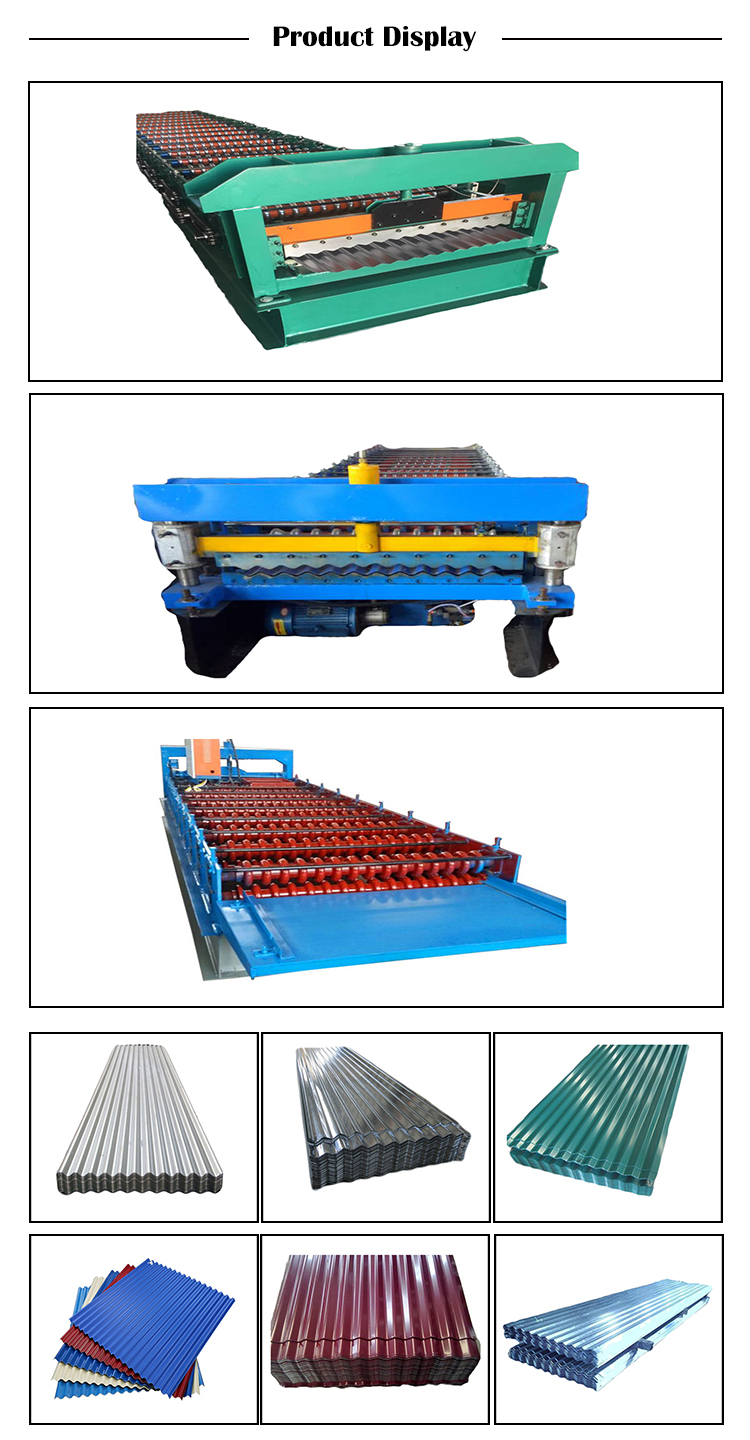 galvanized color steel corrugated aluminum roof sheet profile making machine