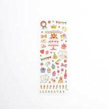 40 упаковок/партия, Корейская версия милых прозрачных наклеек для скрапбукинга, канцелярские принадлежности, десять стилей(Китай)