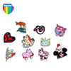 High quality wholesale new batch cute 3D cartoon metal custom badge lapel pin