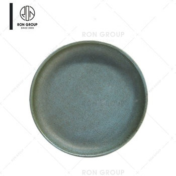 Good Quality High End Lightweight Green Elliptical Ceramic Plate