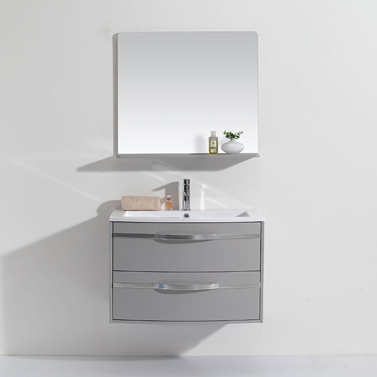 Modern Style New Product Single Sink Slim Simple Marble Bathroom Storage Vanity
