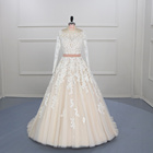 New Style Backless Ball Gown Wedding Dress Long Sleeve,Plus Size Mermaid Wedding Dresses With Sleeves