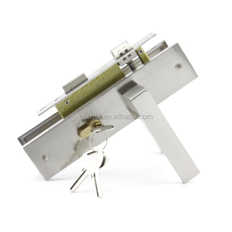 Zinc alloy Room Door Lock Door Handle Lock Anti-theft Gate Lock Furniture Hardware