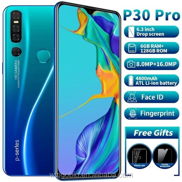 Globale Versione Smartphone P30 Pro 6GB + 128GB Del Telefono Mobile MTK6763 10 Core 6.3 \ \ 8MP + 16MP Doppia Fotocamera 4800mAh Del Telefono Mobile