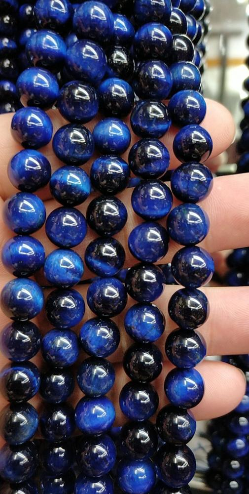 2020 Wholesale manufacturer genuine high quality natural 8mm gemstone bead tiger eye stone loose bead