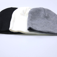 Latest Design New Arrived High Quality Plain Color Unisex Acrylic Custom Knitted Beanie Hats