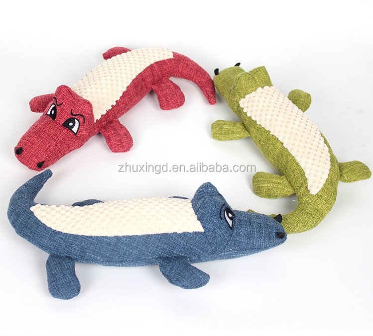 New design plush crocodile dog toy, wholesale plush soft pet dog toy