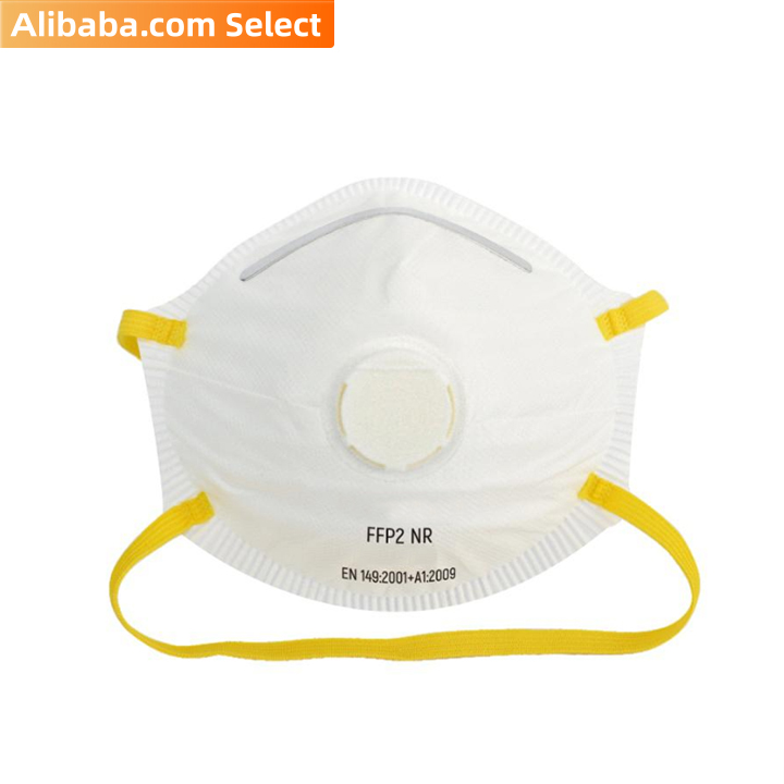 White disposable ffp2 adult particle folding half mask EN149 (400pcs/Carton)