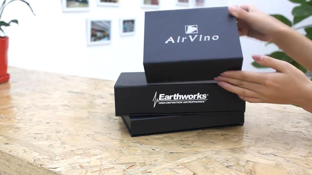 علبة هدايا مغناطيسية صغيرة بشعار مخصص بتصميم جديد من دونغ جوان لعام 2019 مع شعار مطبوع