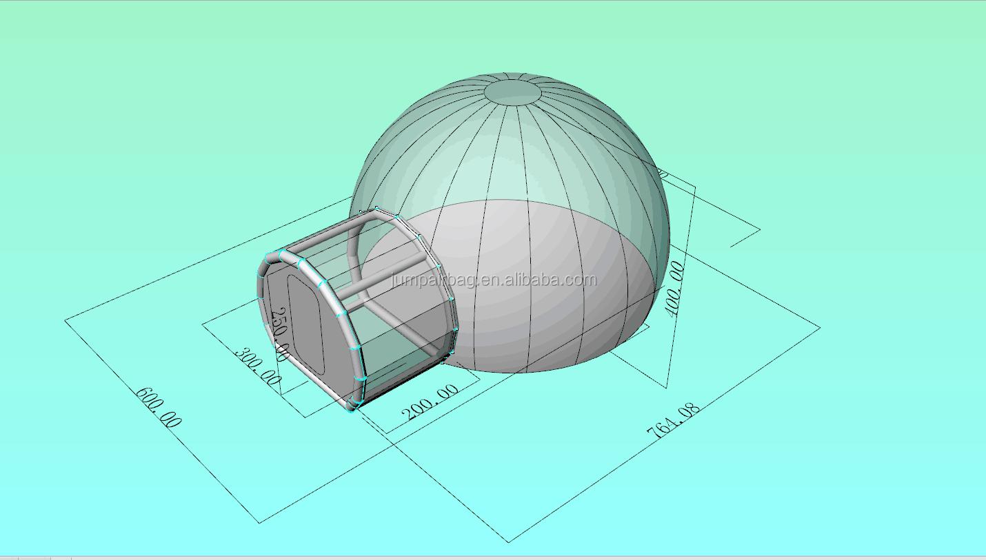 Открытый прозрачный надувной кемпинг надувной купол палатка отель с туннелем