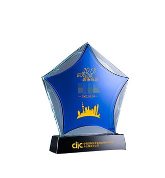 Custom Crystal Acrylic Trophy Awards Star Shape Acrylic Awards