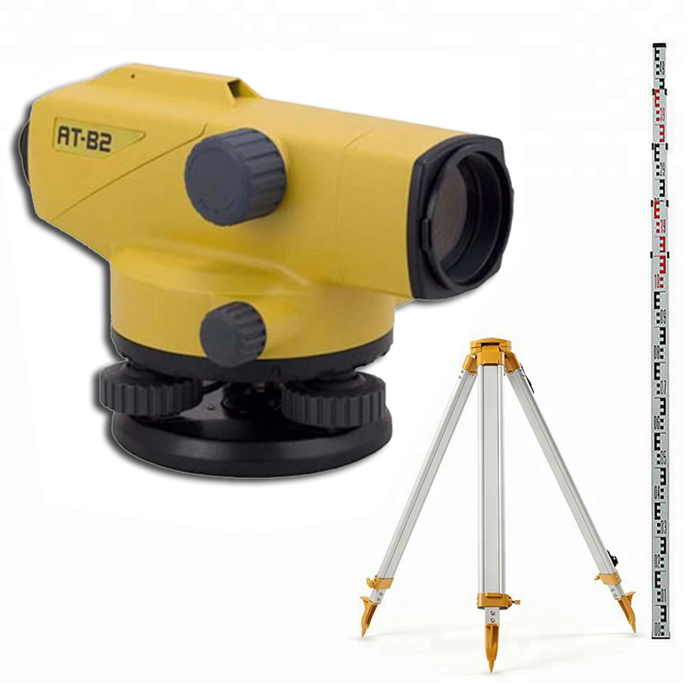 TOPCON AT-B2 Auto <strong>Leveling</strong> Dumpy With Ruler Staff&amp;Tripod