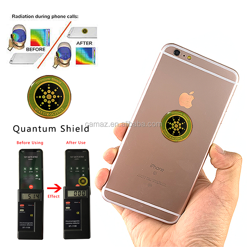 Hot Round Anti Radiation Quantum Shield For Cell Phone EMF Protection Anti Radiation Sticker ,OEM logo.