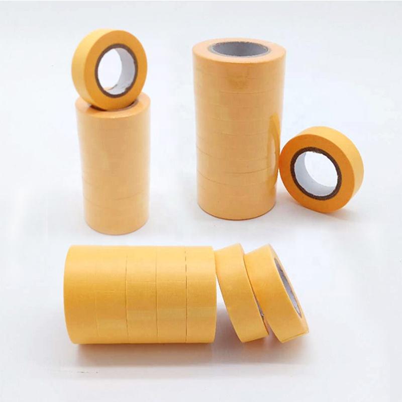 Free Sample Car Painting Gold Washi Tape, Automotive Spray Heat Resistant Crepe Masking Tape