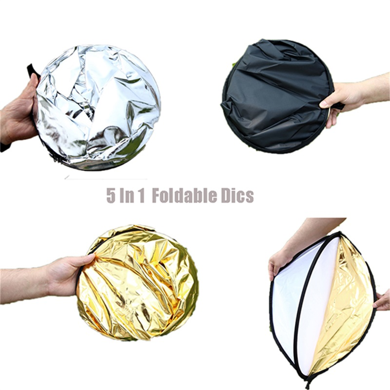 Lovefoto 110CM 43-Inch 5-in-1 Collapsible Multi Disc Photography Reflector