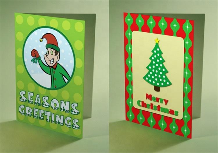 Free design greeting birthday/holiday paper card with custom logo