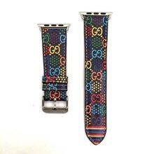 Женский и мужской браслет из натуральной кожи с цветочным принтом, ремешок для часов Apple Watch 40 мм/44 мм/38/42 мм, серия 5 4 3 2, браслет(China)