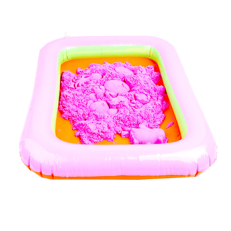 2KG Educational Modeling Sand Toys Kids DIY Play Set Table Moon Magic Sand Box with 12 Mould Tools