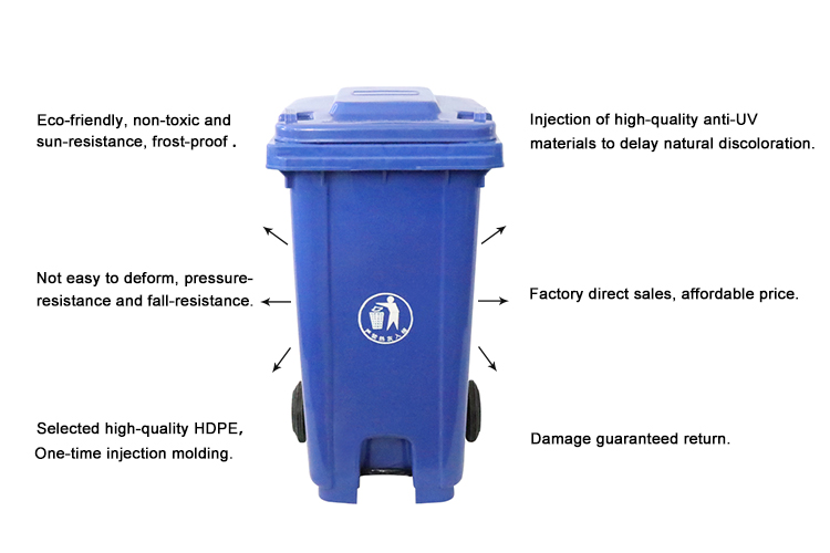 OEM durable step open decorative trash can covers 50L trash can