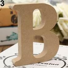 Отдельно стоящая A-Z, деревянные буквы, алфавит, висячие, свадебные, на день рождения, для дома, вечерние, дизайнерские украшения, рукоделие(Китай)