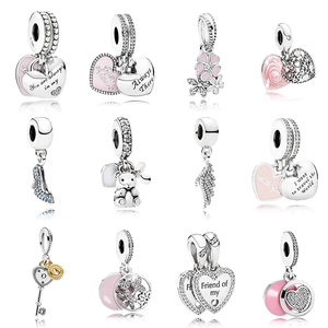Wholesale 925 sterling silver amulet for charm bracelet high quality flower pendant charm