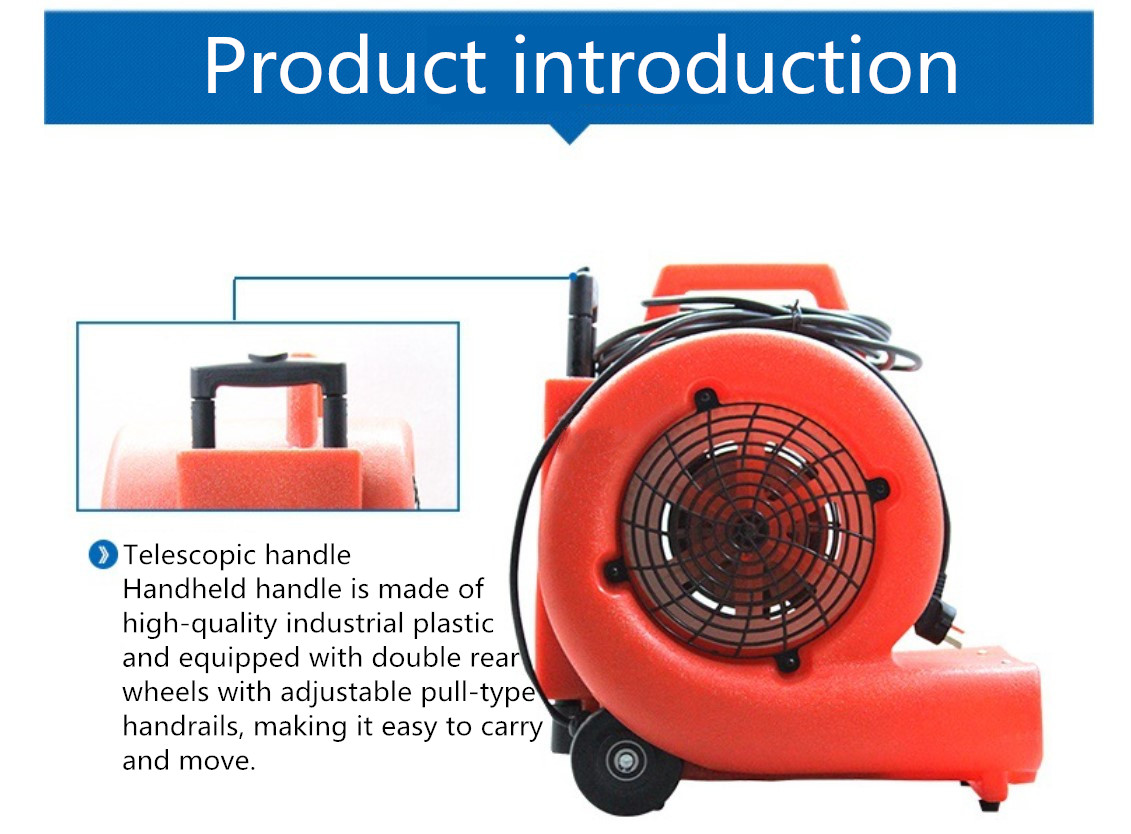 3-speed Floor Dryer Electric Air Blower/ Blower Floor Carpet Dryer And Air Mover For Floor