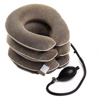 Inflatable relieve pain health flannel cervical neck traction device cervical support