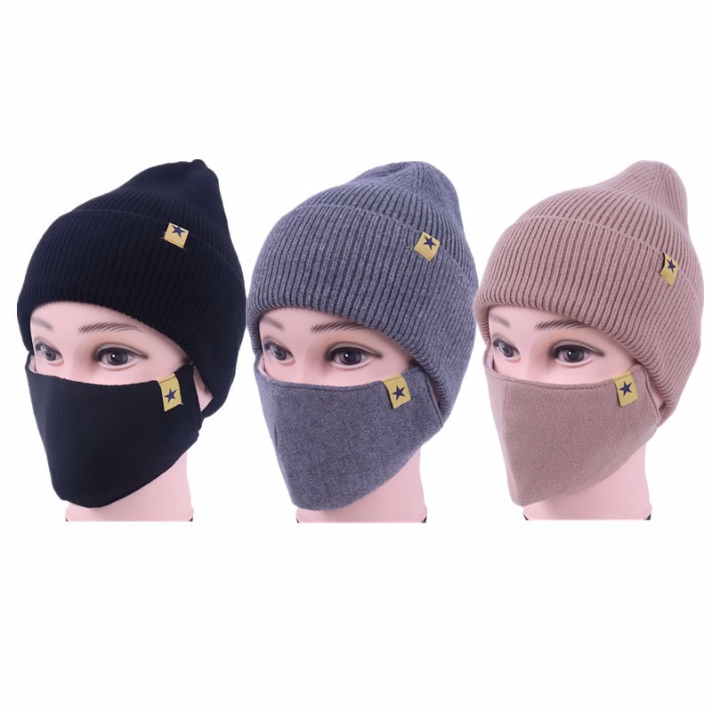 2020 Knitted Hats Winter Beanies Hat Warmer Winter Cap Warm Outdoor Skiing Sport Face Mask Women Winter Hat