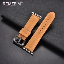 Ремзейм Crazy horse кожа Ремешки для наручных часов для Apple Watch 38 мм 40 мм 42 мм 44 мм женские и мужские аксессуары для часов Ремешок(Китай)