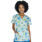 wholesale medical uniform nurse top healthcare working clothes printed nursing scrubs top