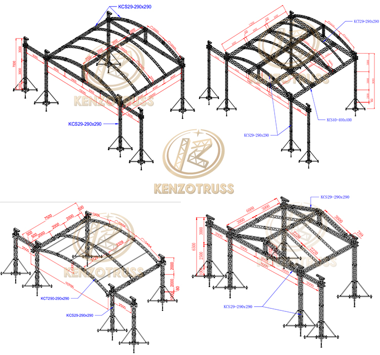 Aluminum Outdoor Stage Roof Truss System for Sale