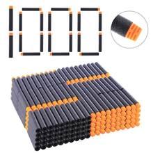 NFSTRIKE 1000 шт. универсальные мягкие пули для дротиков серии Nerf Elite, бластеры с плоской головкой, мягкие игрушечные пули, Дартс 7,2*1,3 см(Китай)