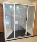 Glass Door Sauna Acrylic Steam Room For 10 People With Full Glass Front Door Hammam Sauna Steam Box Cabin For Spa