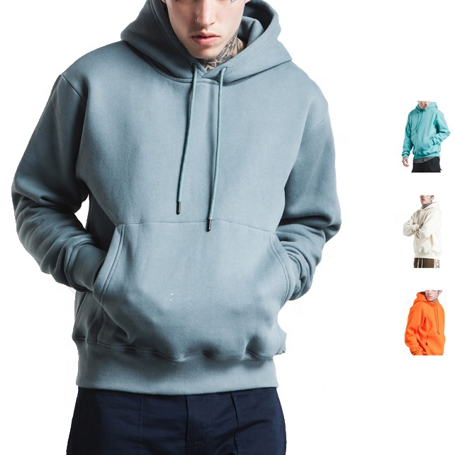 Custom mens drop shoulder fleece blank oversized <strong>hoodie</strong> with kangaroo pocket